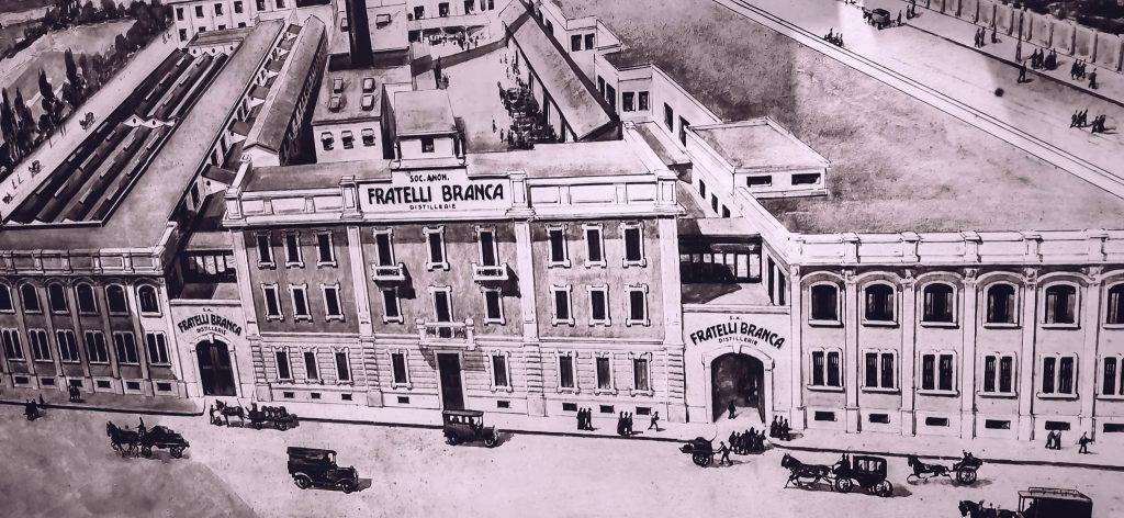 Dibujo de la fábrica de Bovisa, construida a principios del S. XX
