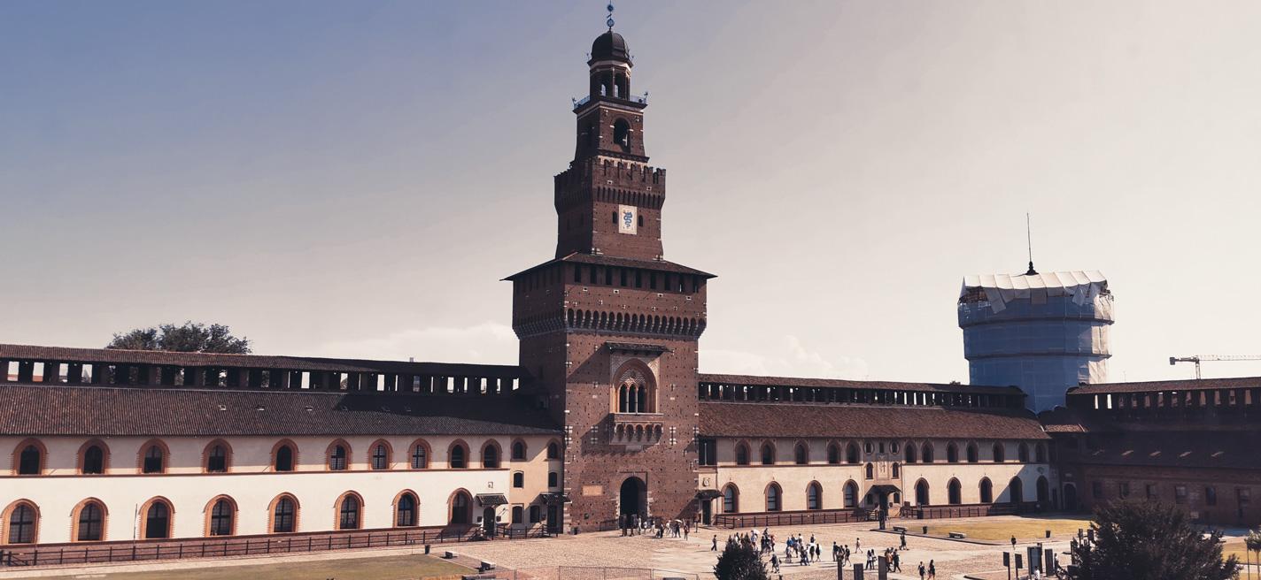 La torre del Filarete vista desde adentro