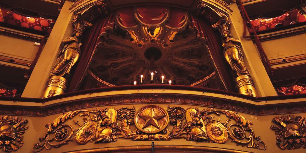 Detalle del Parco Imperial del teatro de la Scala