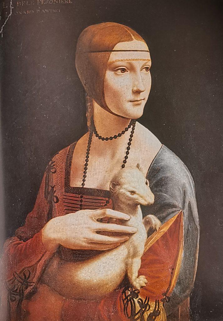 La Dama del armiño, Leonardo Da Vinci, Museo Czartoryski, Cracovia, Polonia