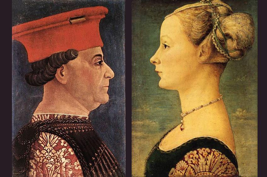 Retratos de Francesco Sforza y Bianca María Visconti, Castillo Sforzesco, Milán