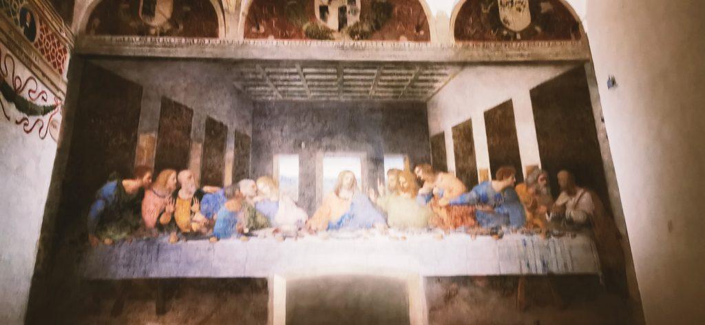 La Última Cena, sobre el refectorio de Santa María delle Grazie
