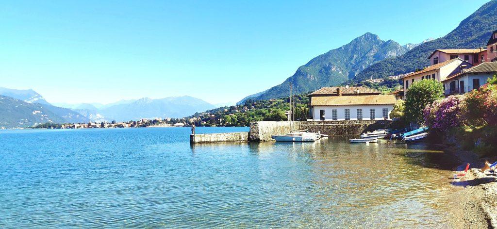 Las playas de Abbadia Lariana, sobre el Lago de Como