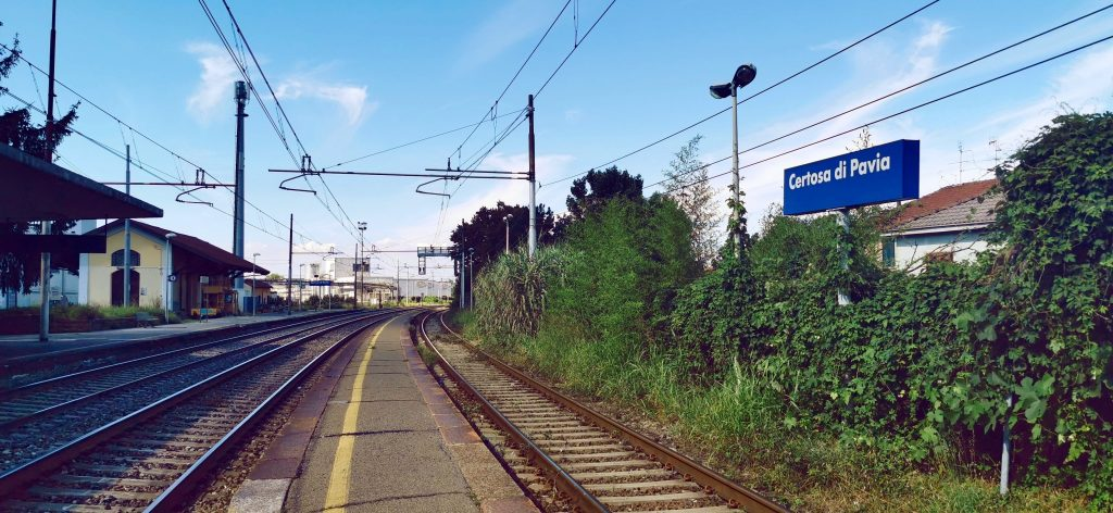 Estación del tren de la Certosa de Pavia